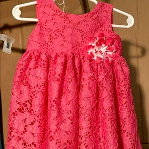 Baby girls Pink Lacy Dress